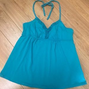 Express Halter Top with Ruffle Detail Size L
